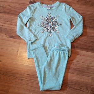Gymboree girls size 7/8 snowflake 2 piece outfit